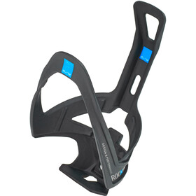Elite Rocko Bottle Holder Carbon black matt/blue graphic